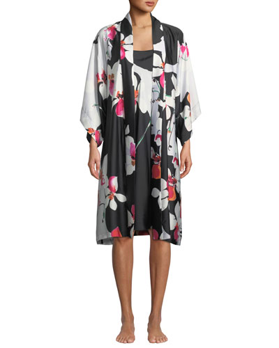 Cattleya Floral-Print Nightgown and Matching Items