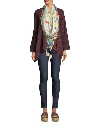 Dantel Flowy Tunic with Leaf Detail  and Matching Items