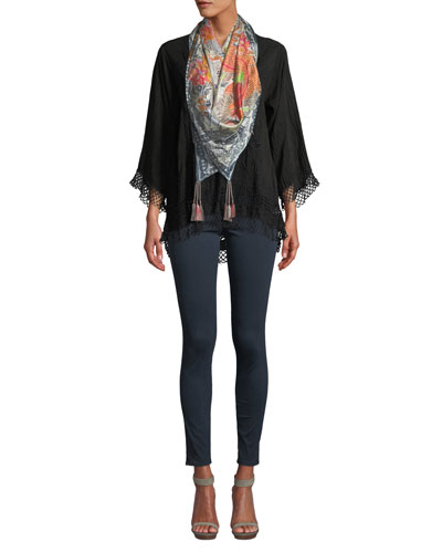 Assic V-Neck Top with Lace Trim  and Matching Items