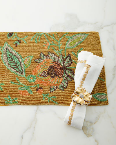 Gold Border Napkin and Matching Items
