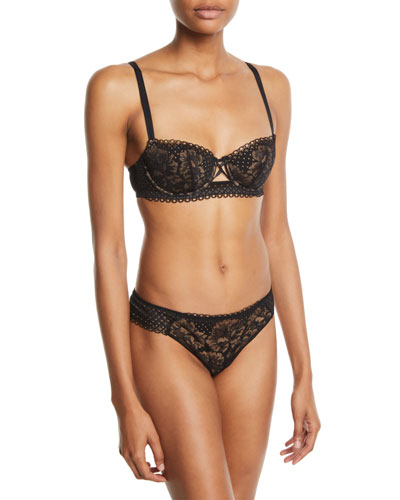 Dot Flowers Padded Demi Bra and Matching Items