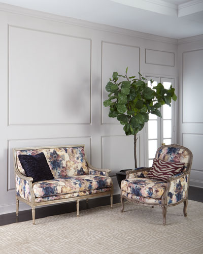 Windsor Floral Settee  and Matching Items