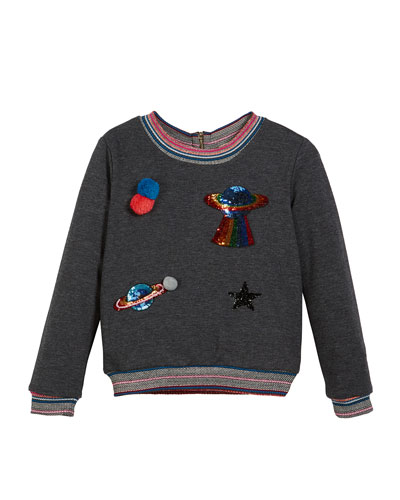 Space Patches Sweatshirt, Size 4-6X  and Matching Items
