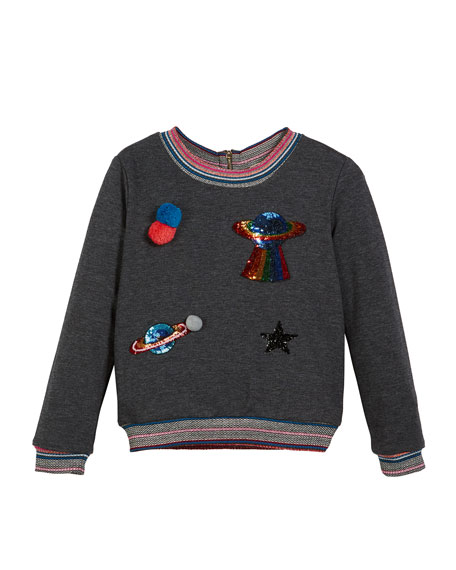 Space Patches Sweatshirt, Size 4-6X