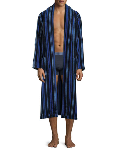 Men's Aston 34 Striped Velour Robe and Matching Items