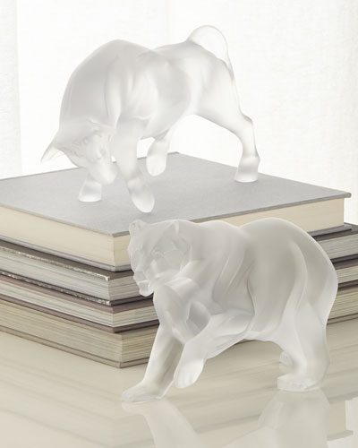 Bull Figurine  and Matching Items