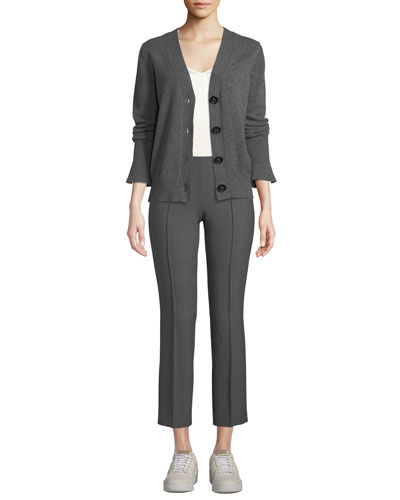 Eternal Cashmere V-Neck Trumpet-Cuff Cardigan  and Matching Items