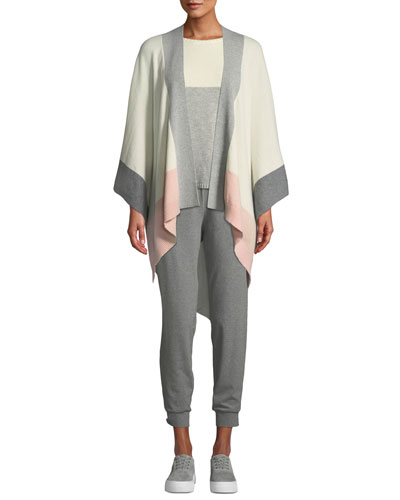 Colorblock Recycled Cashmere Serape Cardigan and Matching Items