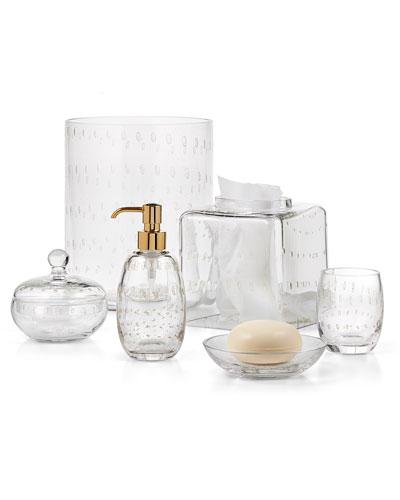 Contessa Glass Wastebasket  and Matching Items