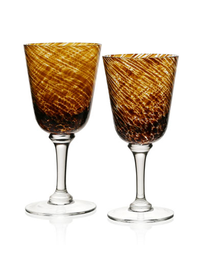 Vanessa Glass Water Goblet, Tortoise and Matching Items
