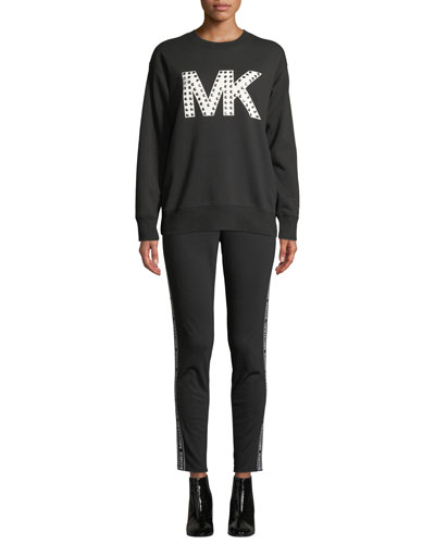 Studded Logo Graphic Sweatshirt and Matching Items
