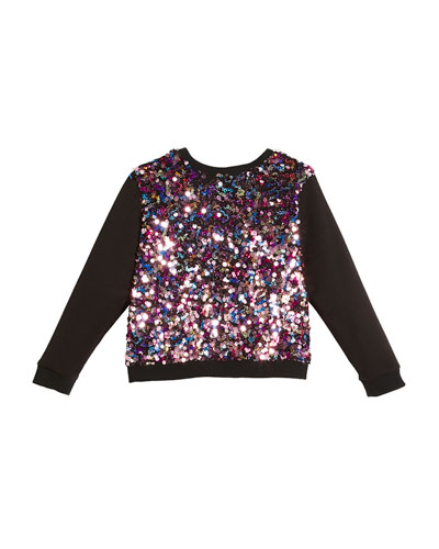 Sequin Combo Sweatshirt, Size 4-7  and Matching Items
