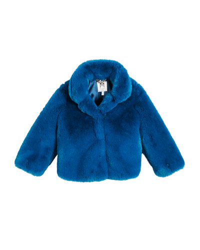 Faux Fur Jacket, Size 4-7  and Matching Items
