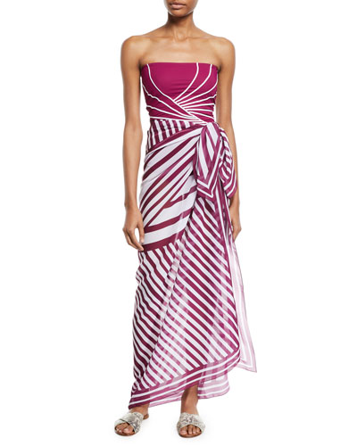 Sinatra Striped Coverup Pareo and Matching Items
