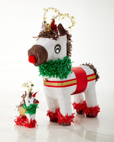 Red-Nosed Reindeer Pinata and Matching Items