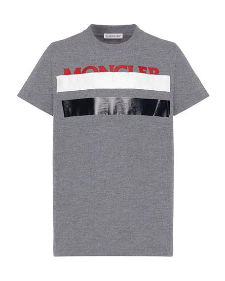 Colorblock T-Shirt w/ Hidden Logo Text, Size 4-6