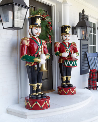 drummer toy soldier trumpeter toy soldier - Outdoor Toy Soldier Christmas Decorations