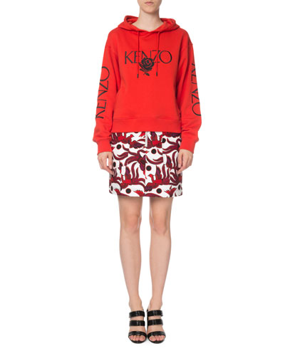Bold Embroidered Rose Logo Hoodie and Matching Items