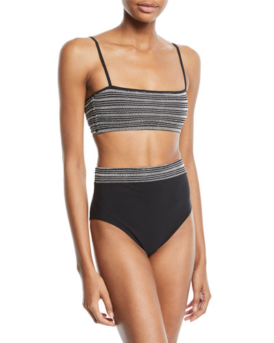 Adrianna Smocked Bandeau Bikini Top and Matching Items