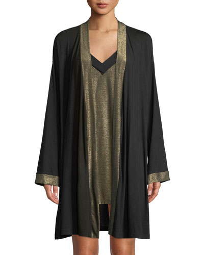 Becca Metallic-Trim Robe and Matching Items