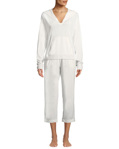 Joelle Side-Pocket Cropped Lounge Pants and Matching Items