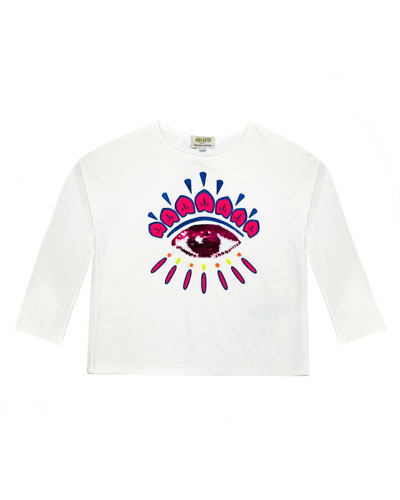 Long-Sleeve Flip Sequin Eye T-Shirt, Size 4-6  and Matching Items