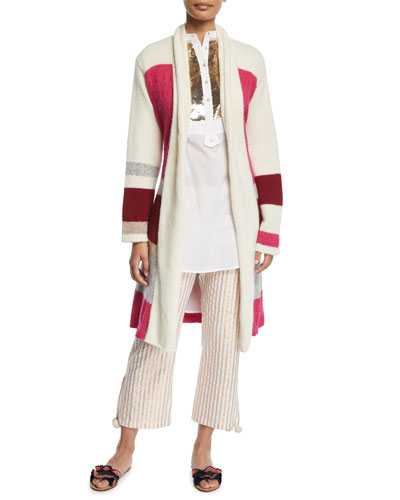 Yara Colorblocked Sash-Waist Cardigan and Matching Items