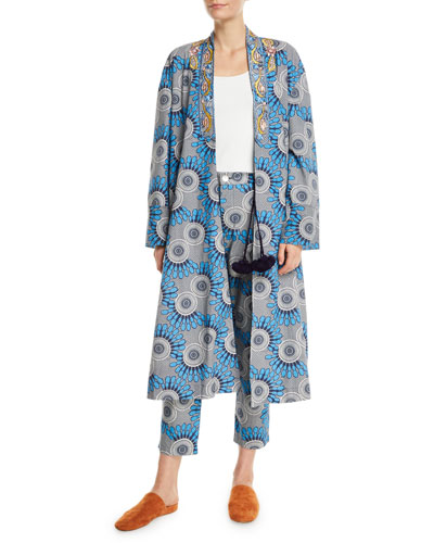 Elizabetta African Moon Floral Kimono Jacket and Matching Items