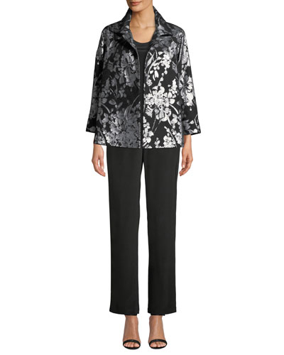 Make An Entrance Floral Jacquard Jacket and Matching Items