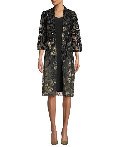 Velvet Lace Duster  Jacket, Plus Size and Matching Items