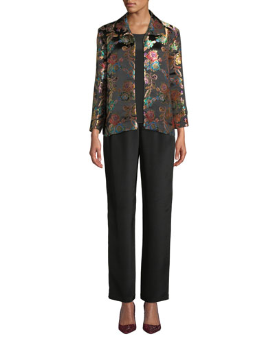 Jewel Box Jacquard Boxy Topper Jacket, Plus Size and Matching Items
