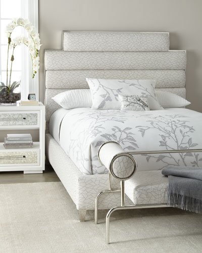 Paloma Channel-Tufted Queen Bed and Matching Items