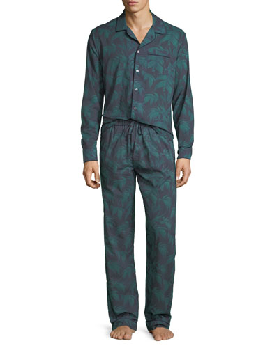 Men's Byron Palm Leaf-Print Lounge Shirt and Matching Items