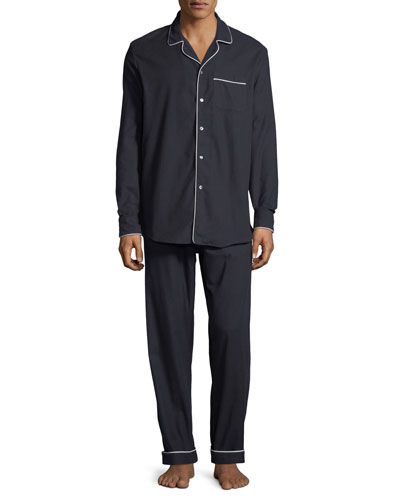 Men's Contrast-Piping Lounge Shirt and Matching Items