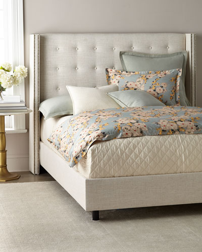 Lisabeth Twin Tufted Wing-Back Bed  and Matching Items