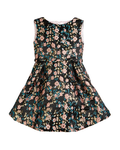 Floral Jacquard Sleeveless Dress, Size 2-6  and Matching Items