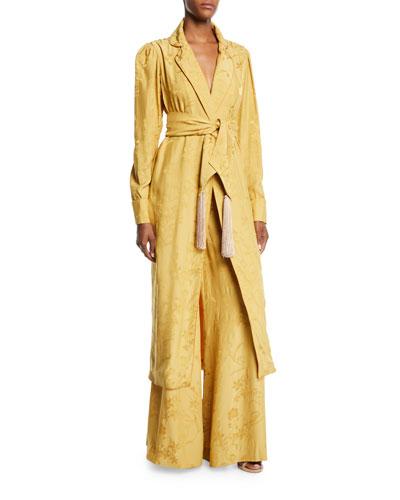 Unusual Romance Belted Jacquard Kimono Robe and Matching Items