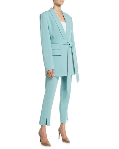Boxy Oversized Stretch Suiting Tuxedo Blazer and Matching Items
