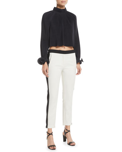 Pleating Cropped Top and Matching Items