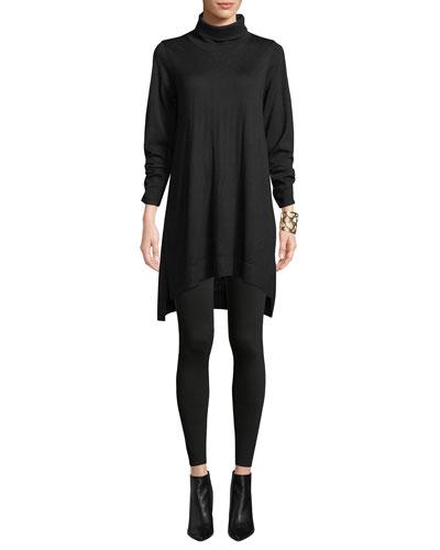 Merino Jersey Turtleneck Sweater Dress and Matching Items
