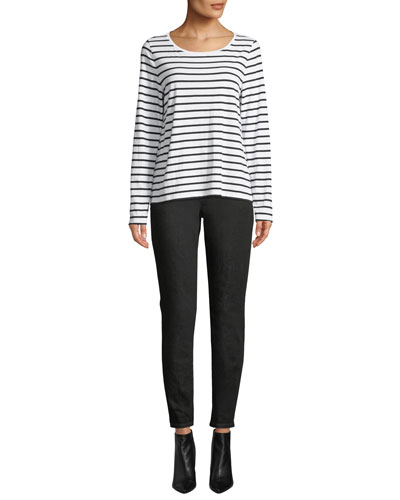 Striped Jersey Long-Sleeve Top and Matching Items