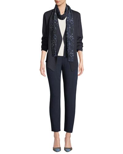 Silk-Blend Asymmetric-Hem Cardigan and Matching Items