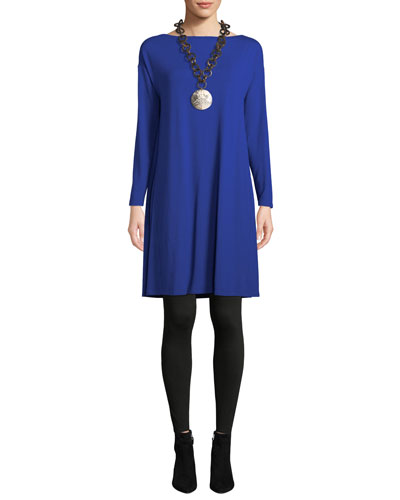 Twisted-Back Viscose Long-Sleeve Dress and Matching Items
