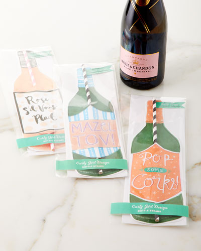 Sil Vous Rose Wine Straw Card  and Matching Items