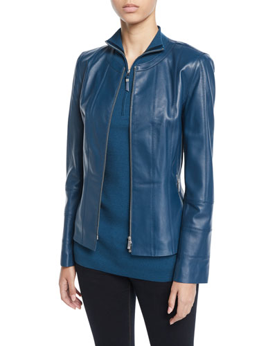 Courtney Lambskin Leather Jacket and Matching Items