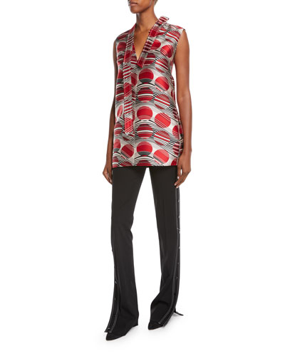 Planet Jacquard Sleeveless Tunic Top and Matching Items