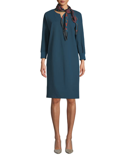 Thoren Shift Dress with Knit Trim and Matching Items