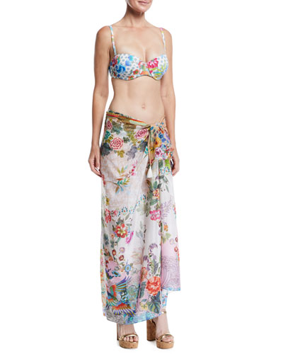 Camellia Floral-Print Coverup Sarong and Matching Items