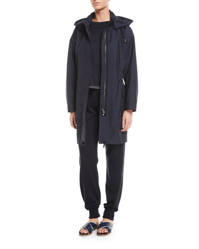 Techno-Wool Hooded Anorak Coat and Matching Items
