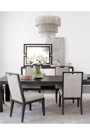 Bernhardt Decorage Marble Front Dining Console Decorage Stainless Trim Dining Table